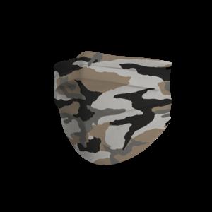 Face mask trendy camouflage desert