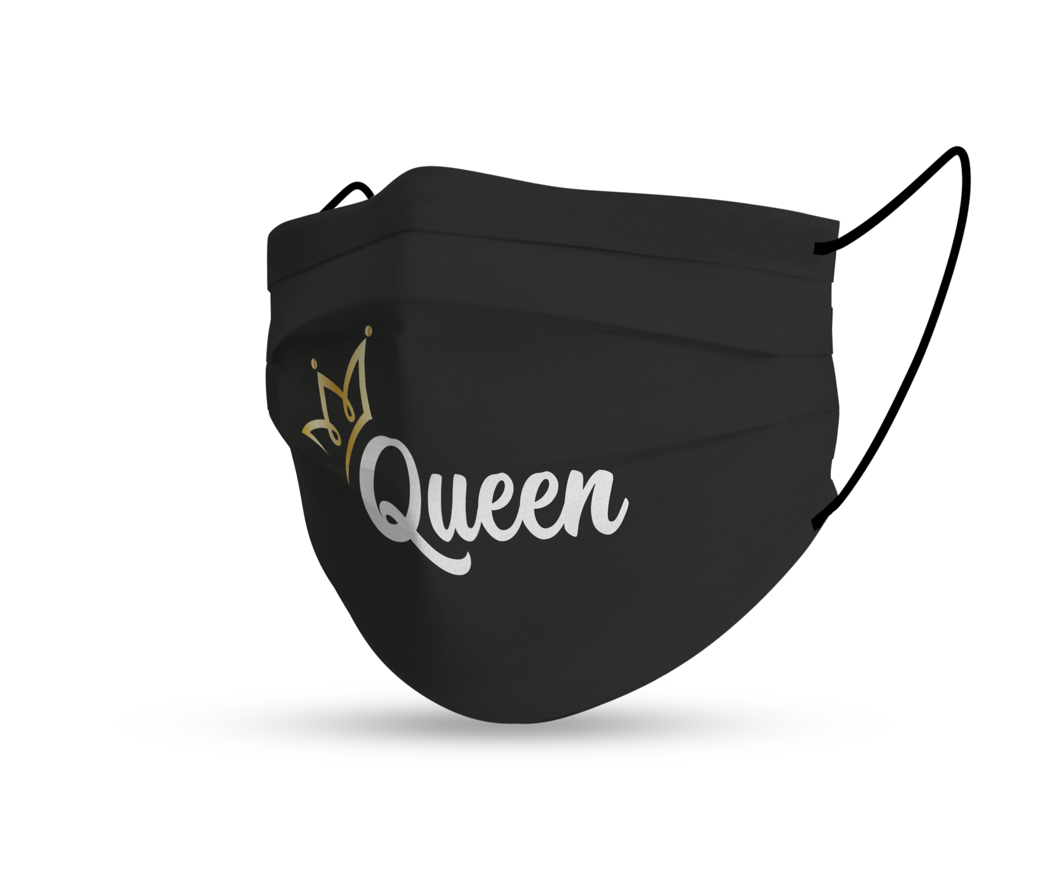 Topfanz Face mask black queen