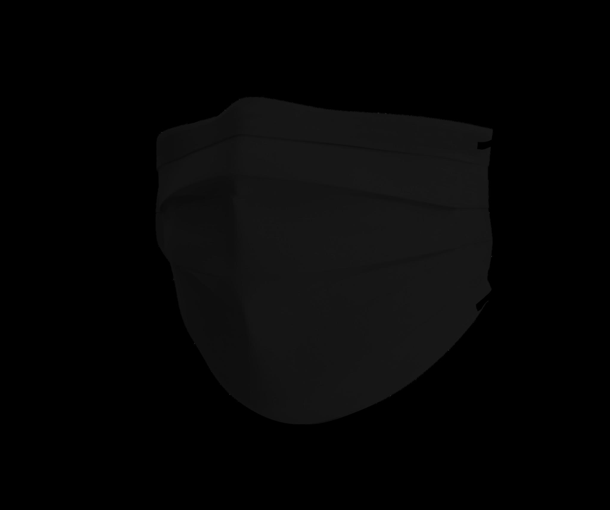 Topfanz Face mask black cotton set pure black (4x)