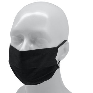 Herbruikbaar mondmasker Polyester volwassenen - zwart