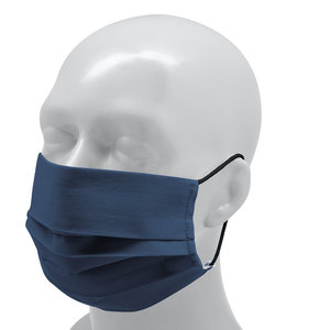 Reusable Face mask Polyester (Adult) - Navy blue