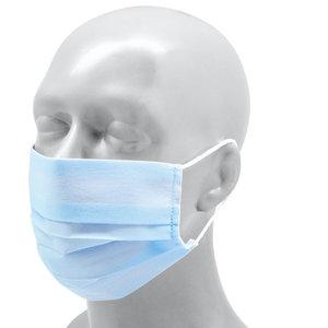 Herbruikbaar mondmasker Polyester volwassenen - Sky blue