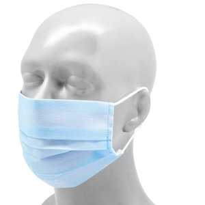 Reusable Face mask Polyester (Adult)  - Sky blue