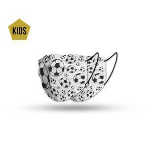 Mondmasker kids voetbal set (2x)