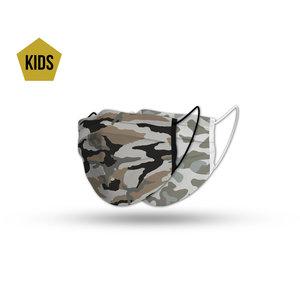 Face mask kids camo set (2x)
