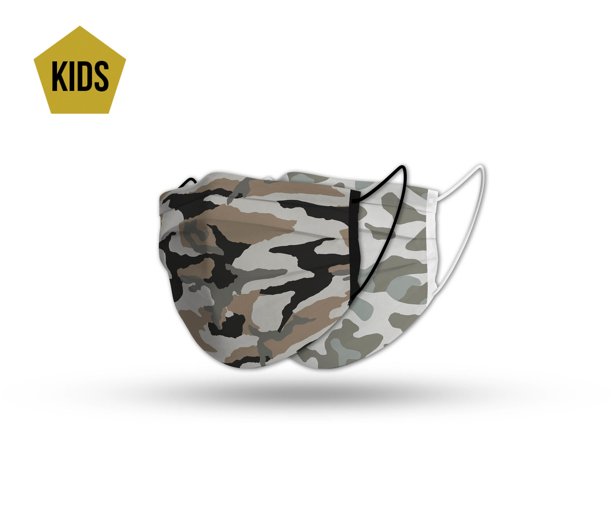 Topfanz Mondmasker kids camo set (2x)