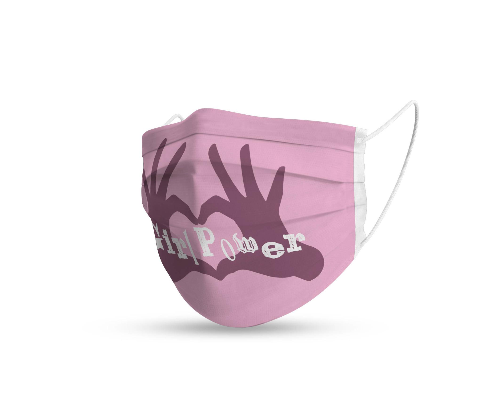 Topfanz Mondmasker kids pink set (2x)