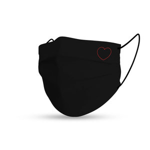 Mondmasker black cotton love
