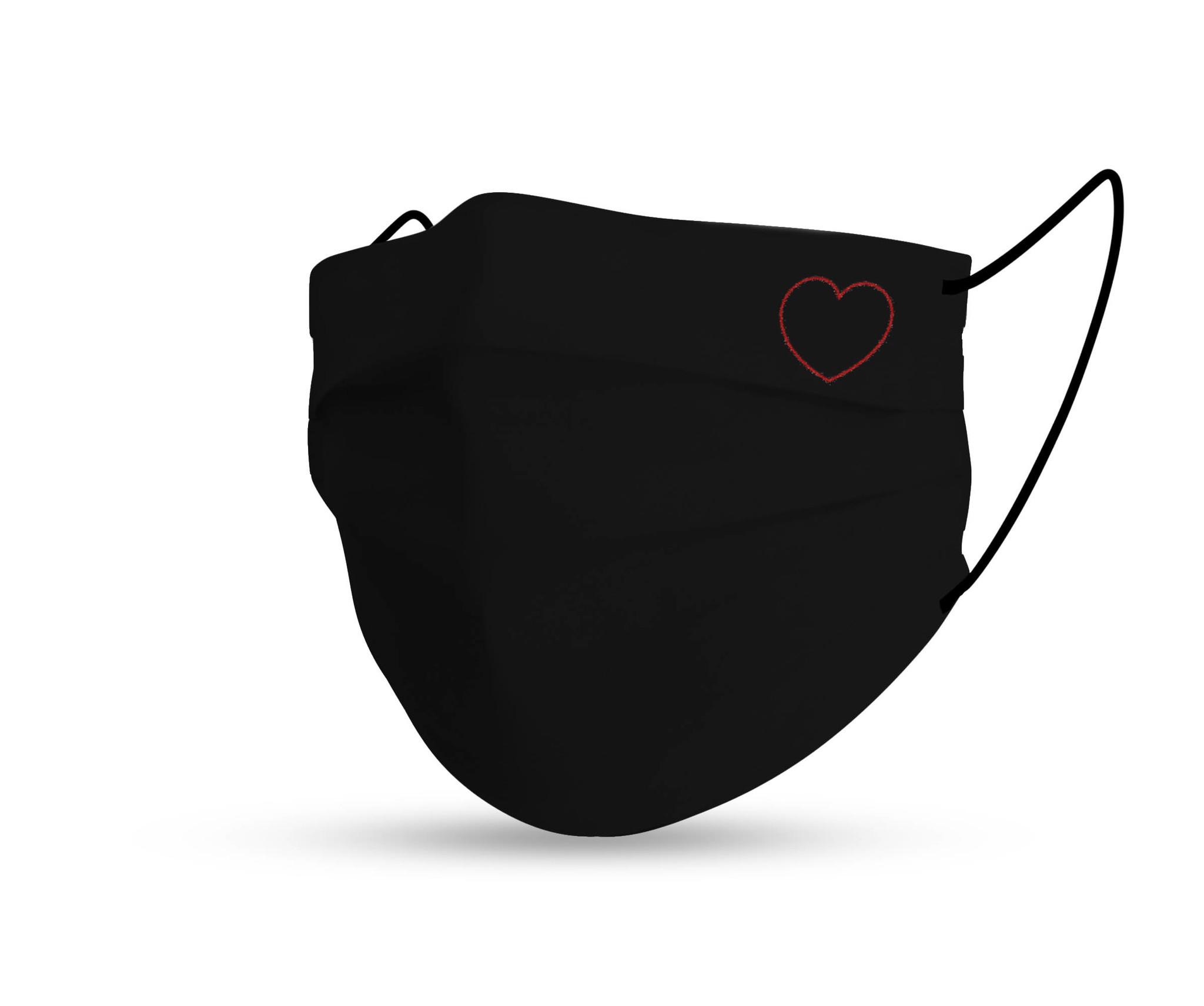 Topfanz Mondmasker black cotton love
