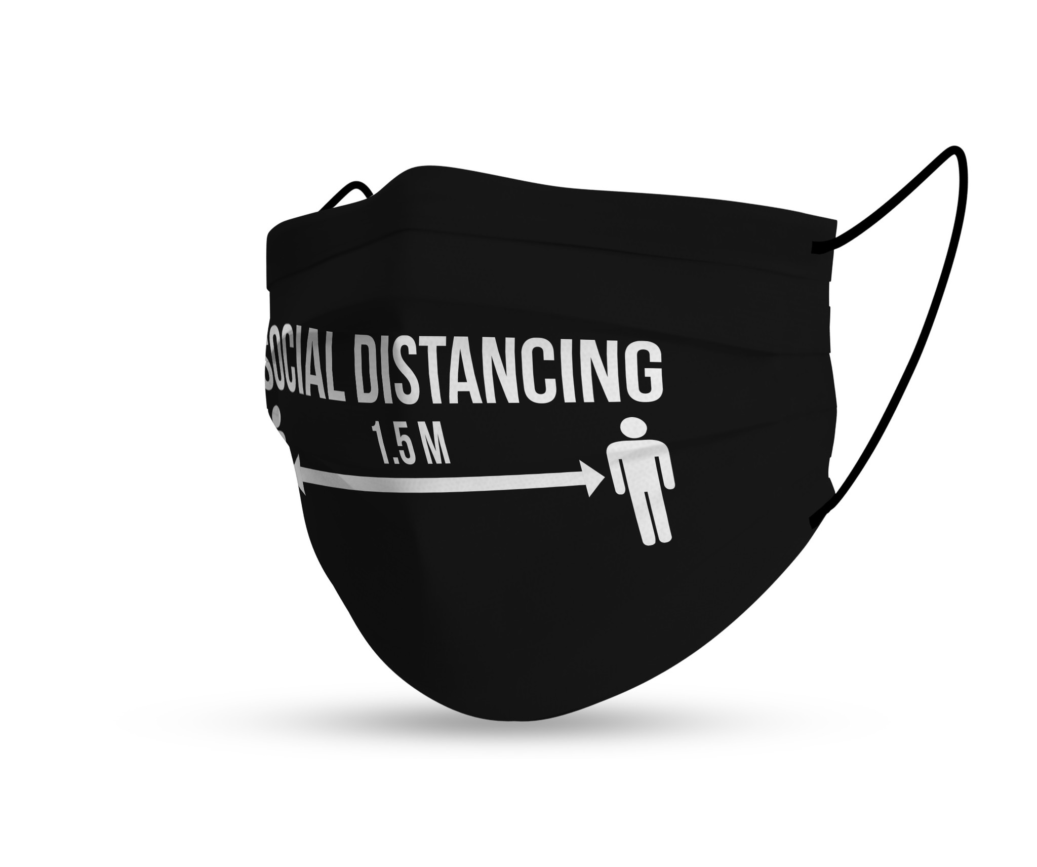 Topfanz Mondmasker Social Distancing 1,5m