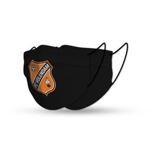Facemask FC Volendam black set (x2)
