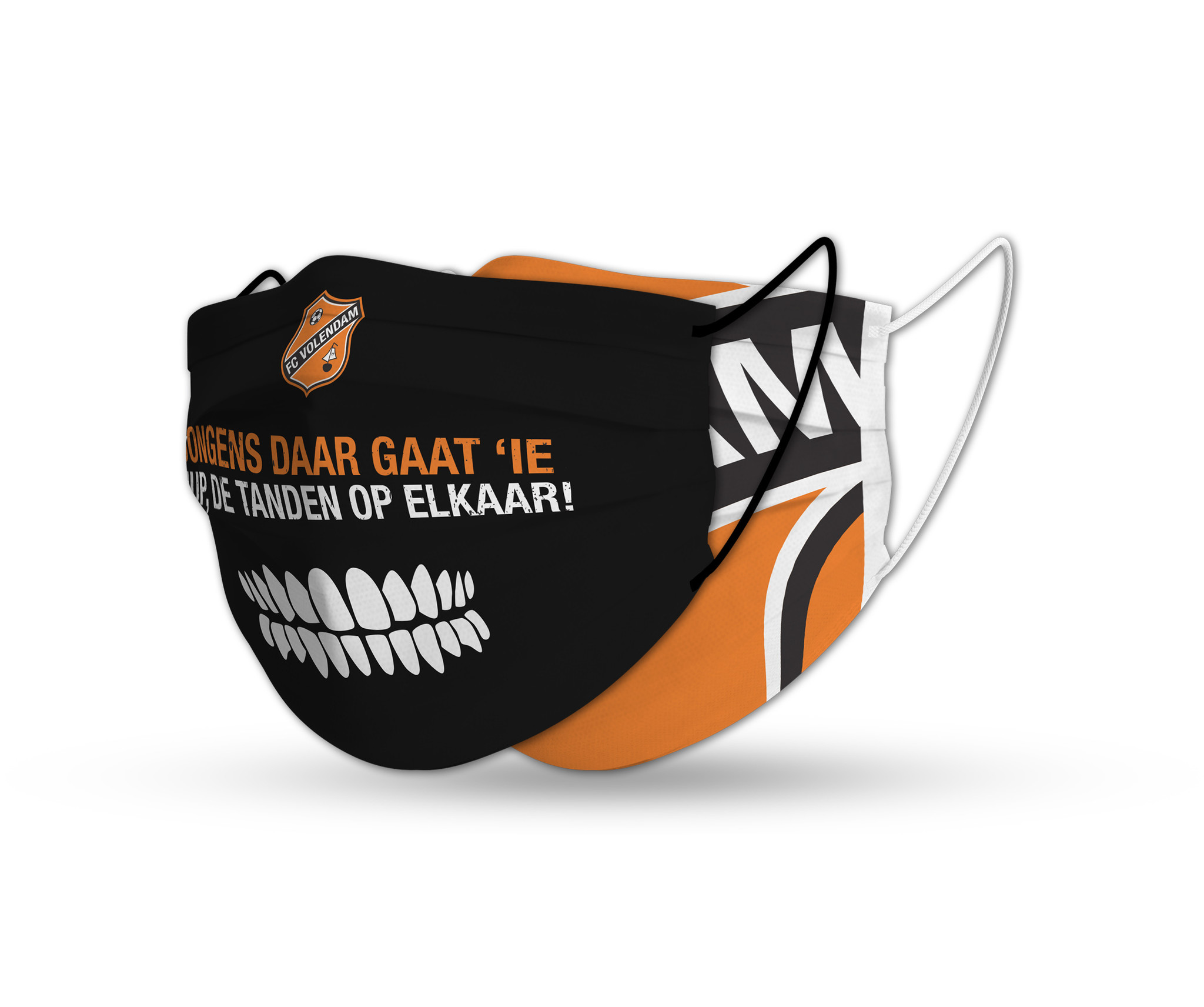 Facemask FC Volendam orange/black set (x2)
