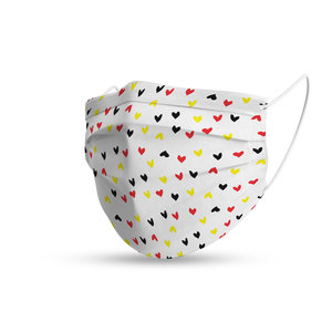 Face mask trendy Belgian hearts