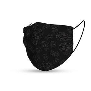 Face mask trendy Sugar Skulls black