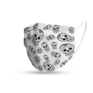Mondmasker trendy Sugar Skulls white