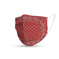 Topfanz Mondmasker trendy bandana red