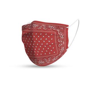 Face mask trendy bandana red