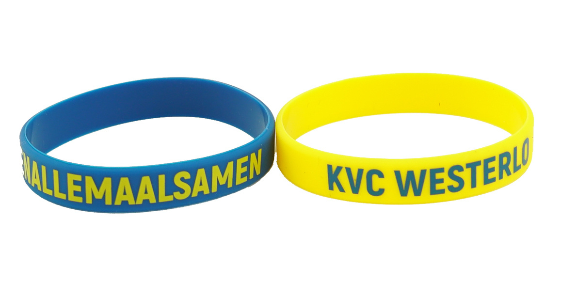 Topfanz Silicone bracelets blue and yellow