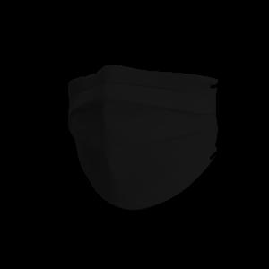 Mondmasker black cotton pure black - winter soft edition