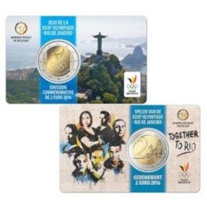 """2 € Officiële munt Team Belgium """"Rio2016"""""""
