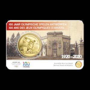 Pièce commemorative (2.5€) - Centenaire des J.O. d'Anvers1920 - N/B