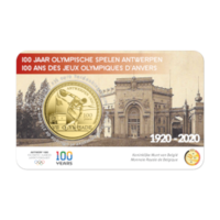 2,5 € Herdenkingsmunt - 100 Jaar O.S. Antwerpen1920 - Z/W