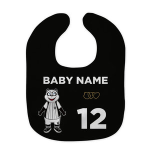 Baby bib name and number