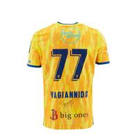 Matchworn en gesigneerd yellow shirt Vagiannidis