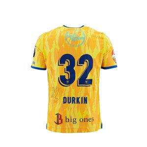 Matchworn en gesigneerd yellow shirt Durkin