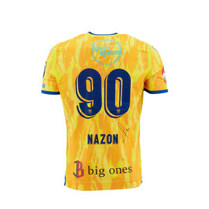 Matchworn en gesigneerd yellow shirt Nazon