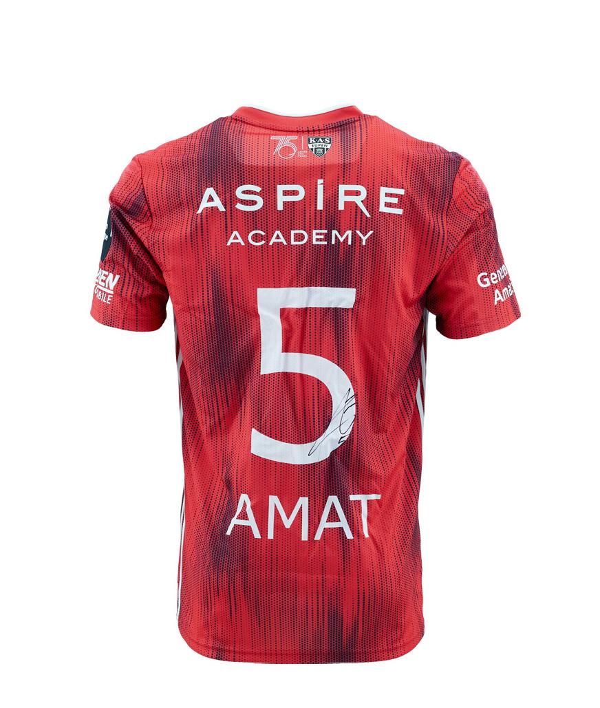 KASE Shirt Red - Matchworn vs Charleroi Player Nr 5 Jordi Amat