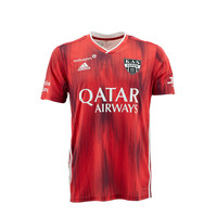 KASE Shirt Red - Matchworn vs Charleroi Player Nr 6 Benoit Poulain