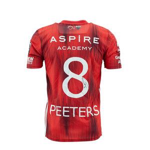 KASE Shirt Red - Matchworn vs Charleroi Player Nr 8 Stef Peeters