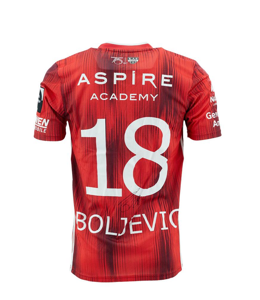 KASE Shirt Red - Matchworn vs Charleroi Player Nr 18 Aleksandar Boljevic