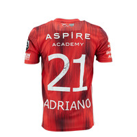 KASE Shirt Red - Matchworn vs Charleroi Player Nr 21 Adriano