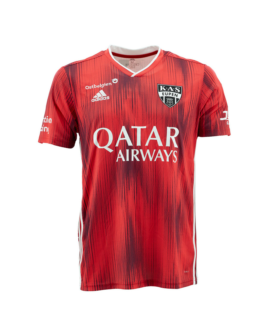 KASE Shirt Red - Matchworn vs Charleroi Player Nr 22 Emmanuel Agbadou