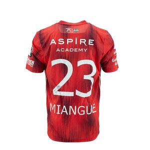 KASE Shirt Red - Matchworn vs Charleroi Player Nr 23 Senna Miangue
