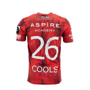 KASE Shirt Red - Matchworn vs Charleroi Player Nr 26 Jens Cools