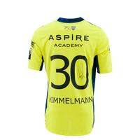 KASE Shirt Yellow - Matchworn vs Charleroi Player Nr 30 Robin Himmelmann