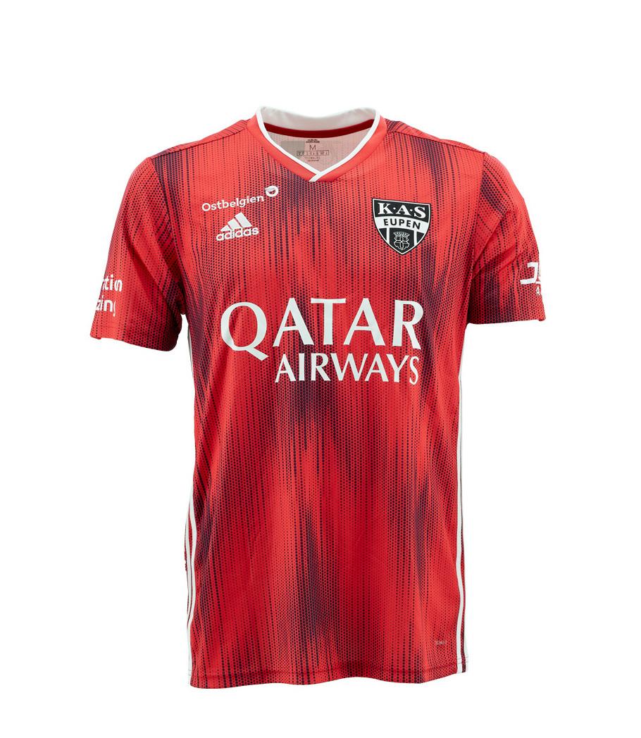 KASE Shirt Red - Matchworn vs Charleroi Player Nr 32 Andreas Beck