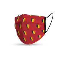 Topfanz Mondmasker België Euro rood