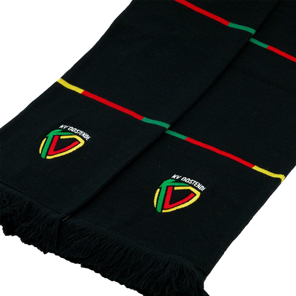 Topfanz Sjaal blokken zwart geel rood lijntjes
