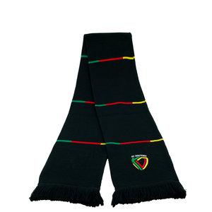 Sjaal blokken zwart geel rood lijntjes