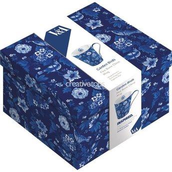 Beker Garden Birds blauw in cadeau doos