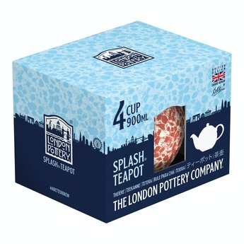 London Pottery Theepot 1l Splash - Rood