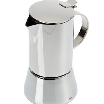 Cilio Espressomaker Aida 4 tasjes - Inox