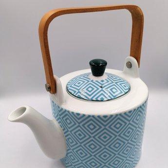 Tokyo Design Studio Theepot met Houten Handvat 0.8l - Blauw