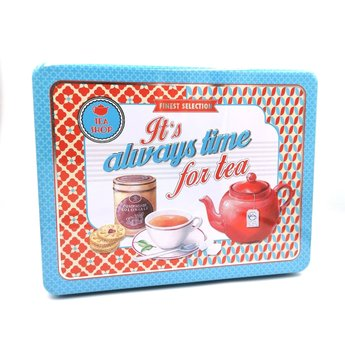 Easy Life Always Time for Tea - Blikken Theedoos