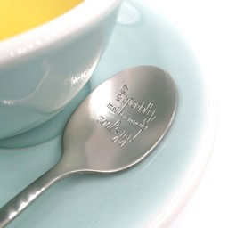 """Style De Vie One Message Spoon - """"Superblij met een moeder zoals jij"""""""