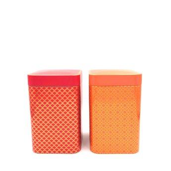 Eigenart Set van 2 Theedozen - Roze & Oranje